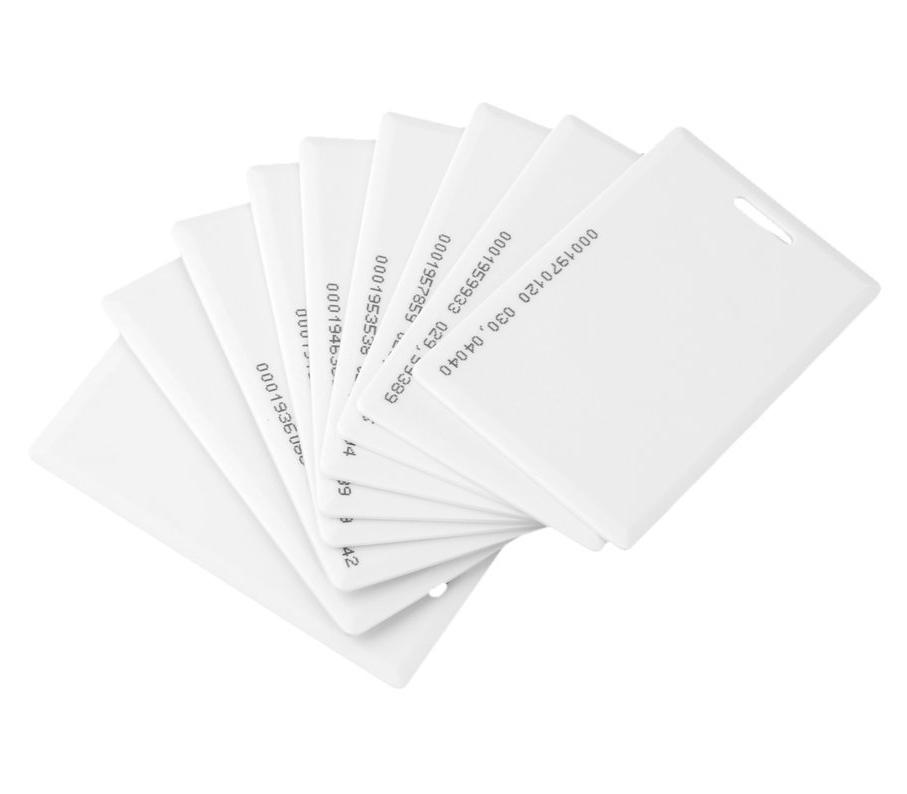 Rfid Karte.Rfid Karte Weiß Iso Em4100 Clamshell Inkl Uid Aufdruck 125khz